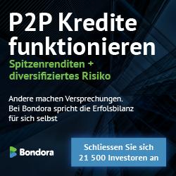 Rendite, Investieren Bondora, P2P Kredit, vergleich, Privatelendingschool